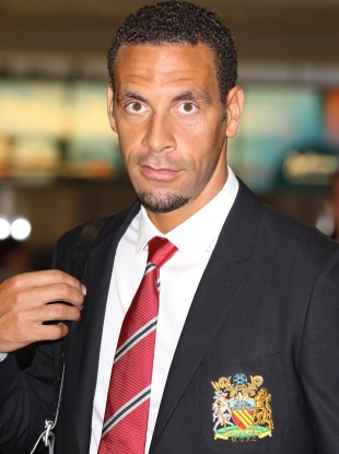 Rio Ferdinand flying out for Durban yesterday.