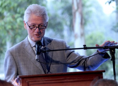 Clinton in Rwanda earlier this week. 