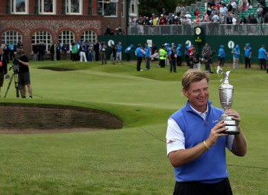 Ernie els with the famous Claret Jug.