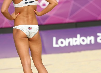 Team GB's Zara Dampney at Horse Guards Parade in central London yesterday.