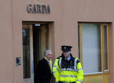 FILE photo of Sen Fitzpatrick outside a garda station in 2011.