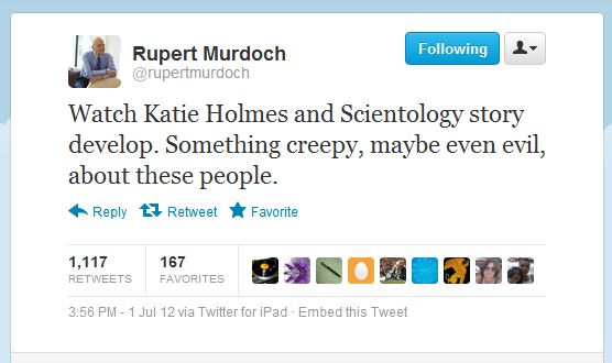 Rupert Murdoch tweet 2