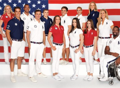 Members of the US Olympic and Paralympic team.