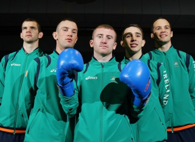 The Irish team minus Katie Taylor. 