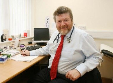 Health minister Dr James Reilly, pictured while working as a GP in 2009.