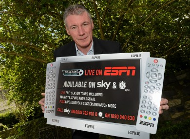 Frank Stapleton helps launch ESPN's coverge of the 2012/2013 football season in Dublin this week.