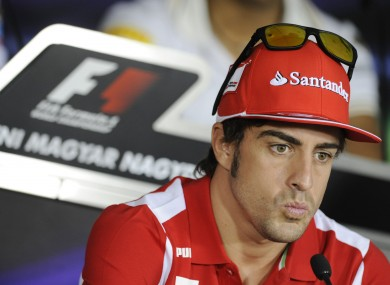 Ferrari's Fernando Alonso leads the way going into Sunday's Hungarian Grand Prix.