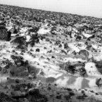 A photo from the Viking 2 lander of the Martian surface showing a thin coating of water ice on rocks and soil in May 1979. (Image: NASA)