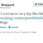 Karl Sheppard loves his hashtags.