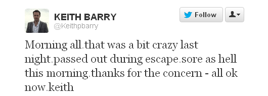 Keith Barry tweet