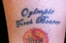 Olympic torchbearer gets tattoo to celebrate… but there's just one problem