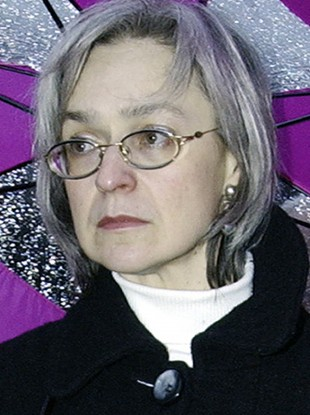 Oct. 2004 file photo reporter Anna Politkovskaya