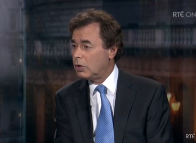 Alan Shatter speaking on last night's The Week In Politics