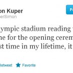 Simon Kuper is clearly not an Opening Ceremony aficionado.