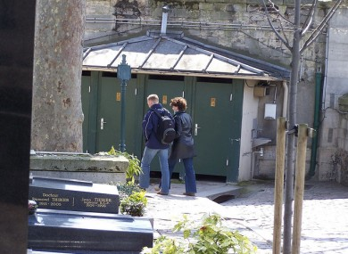 Pere Lachaise cemetery in Paris has its own public facilities. 