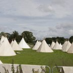 Boutique camping at the festival. (Photo: Alf Harvey)