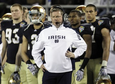 Notre Dame Head Coach Brian Kelly will be hoping his side can come out on top in the Emerald Isle Classic.