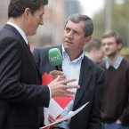 Grilling Eamon Ryan in 2008. Photo:Leon Farrell Photocall Ireland