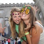 Lucy Purcell and Steph Kington from Cornwall pictured at Castlepalooza (Picture: Tony Kinlan)