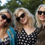 Louise Butler, Aisling Curry and Eliza Mattews pictured at Castlepalooza 2012 (Picture: Tony Kinlan)