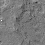 NASA's Mars Reconnaissance Orbiter photographs the Curiosity rover and parachute during its descent. (NASA/JPL-Caltech/Univ. of Arizona)