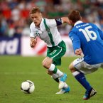 Taking on Italy's Daniele De Rossi at Euro 2012.