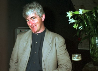 Dermot Morgan in Dublin, 1995.
