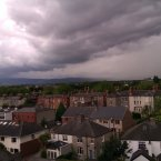 Thunder approaches on Tuesday afternoon. Image: Coran Kelly