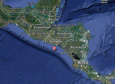 The quake struck 86 miles south-west of San Miguel, El Salvador.