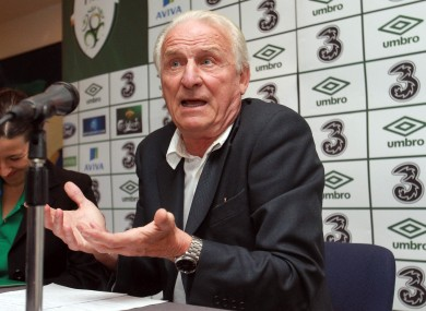 Giovanni Trapattoni at Thursday's press conference.