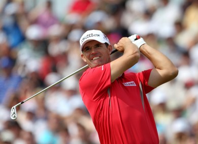 Harrington during the British Open. 