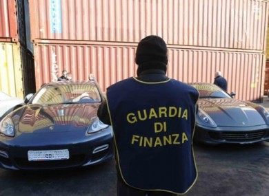 Some of the luxury cars recovered in the Interpol-coordinated operation.