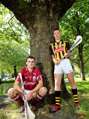 Bord Gáis Energy Ambassadors Johnny Coen of Galway and Cillian Buckley of Kilkenny.