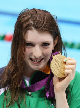 Bethany Firth and her gold medal.