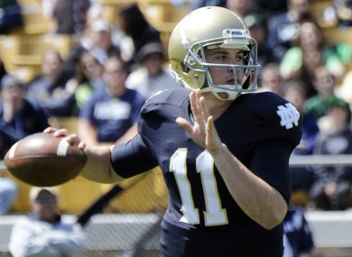 Tommy Rees is no longer the Notre Dame starting quarterback.