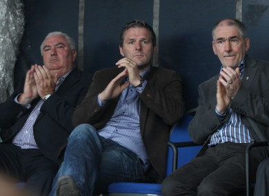 Ex-Armagh boss Joe Kernan, former Armagh forward Jarlath Burns, and Tyrone manager Mickey Harte attended last week's rally in Ballyconnell.