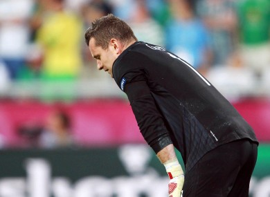 Shay Given won 125 caps for Ireland.