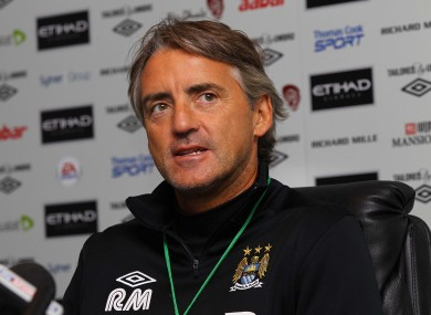 Roberto Mancini at Carrington today.