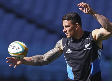 Sonny Bill Williams starts at inside centre for the All Blacks.