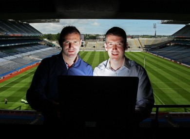 Steven McDonnell pictured with fellow GAA.ie columnist, Cork hurler Donal Óg Cusack.