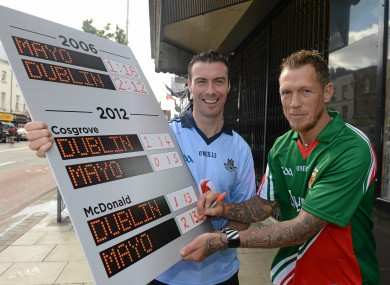 Ray Cosgrove (Dublin) and Ciaran McDonald (Mayo) at a Vodafone GAA Press Conference ahead of next Sunday's All-Ireland semi-final.