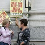 Pictured (LtoR) Helena Mc Neill and Councilor Brid Smith from People Before Profit. (Sam Boal/Photocall Ireland)