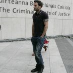 Eoin Ryan, brother of murdered Real IRA member Alan Ryan at the Special Criminal Court in Dublin, after the hearing at which his brother Vincent and two other men were charged with membership of the Real IRA. Photo: Eamonn Farrell/Photocall Ireland
