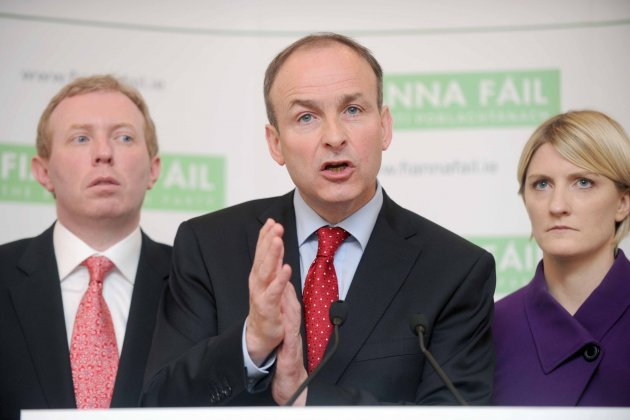 17/9/2012. Fianna Fail Think-In. Senator Averil Powers posters were prominent all round the entrance for the two days of the Fianna Fail Party Autumn Think-In, in the Royal Marine Hotel in Sutton County Dublin. Senator Power has become the favourite shoul