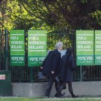 And the Yes side were all about the jobs again. Image: Laura Hutton/Photocall Ireland