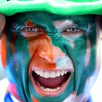 A Notre Dame supporter at the game. INPHO/Cathal Noonan