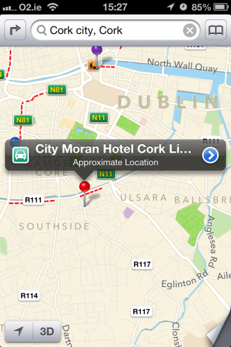 Apple maps cork