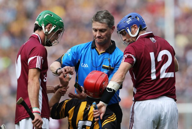 Barry Kelly attempts to retrieve the sliotar off Tommy Walsh 9/9/2012