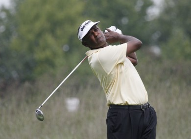 Vijay Singh of Fiji during the second round of the BMW Championship PGA golf tournament.