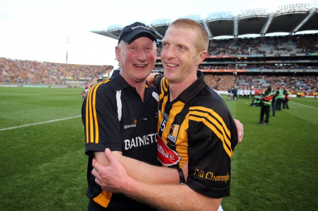 Brian Cody celebrates with Henry Shefflin 30/9/2012